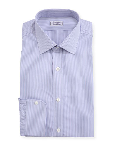 Men's Slim Darted Stripe Dress Shirt