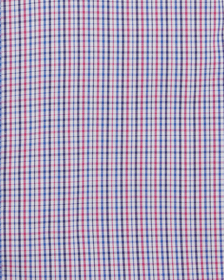 Men's Two-Tone Checker Cotton Dress Shirt