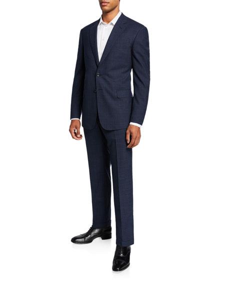 Men's Melange Plaid Two-Piece Suit