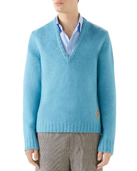Men's Wool V-Neck Sweater