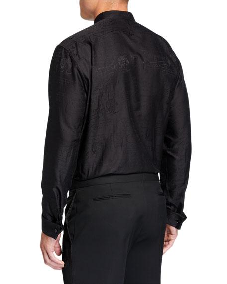 Men's Scritto Jacquard Sport Shirt