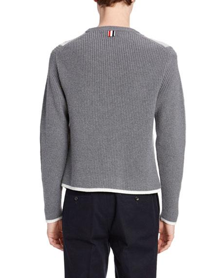 Men's Striped Merino Sweater