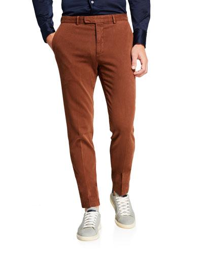 Men's Slim-Fit Stretch-Cotton Trousers
