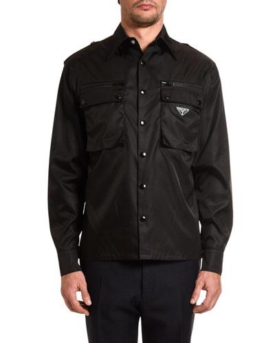 Men's Nylon Gabardine Sport Shirt