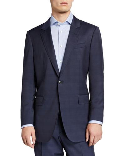 Men's Damien Wool Plaid Suit Separate Jacket
