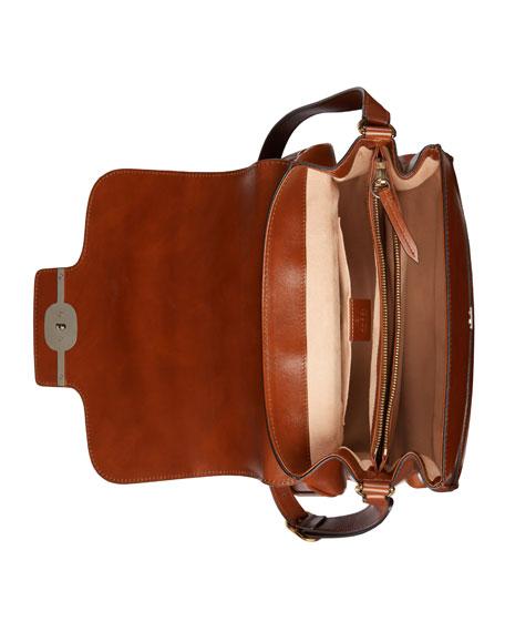 Men's Runway Leather Messenger Bag