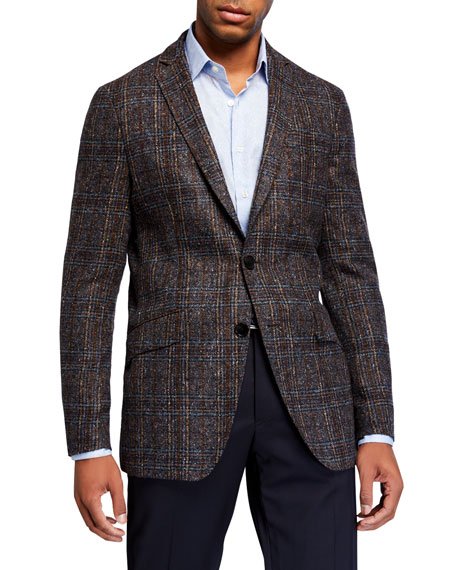 Image 1 of 1: Men's Glen Check Dobby Two-Button Jacket