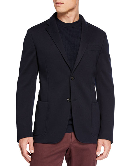 Men's Regular-Fit Jersey Two-Button Jacket