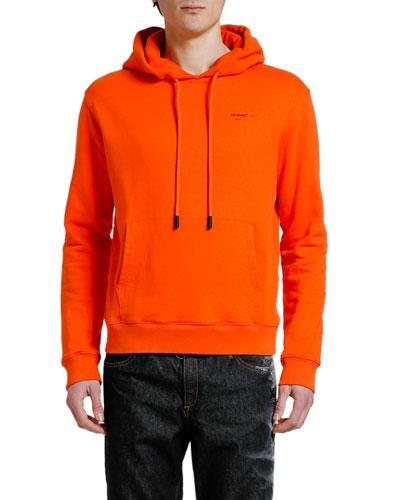 Men's Slim Hoodie Sweatshirt with Small Logo Print