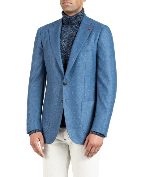 Men's Donegal Cashmere Two-Button Jacket