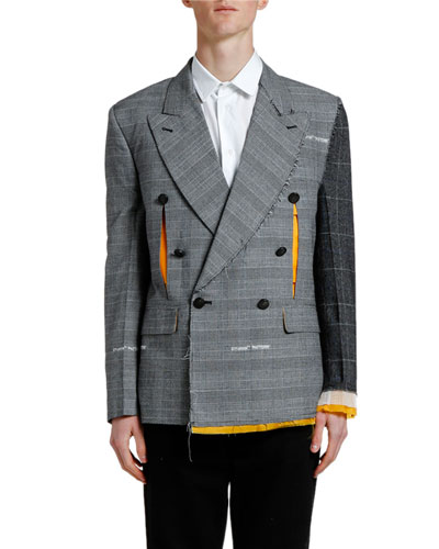 Men's Reconstructed Double-Breasted Jacket