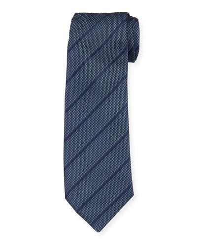 Diagonal Stripes Mulberry Silk Tie