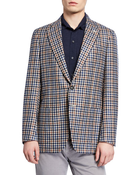 Men's Check Two-Button Jacket