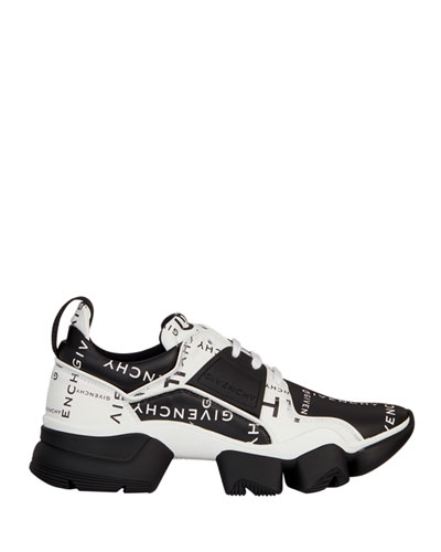 Men's Jaw Logo-Print Two-Tone Leather Sneakers