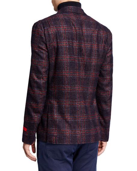 Men's Plaid Alpaca-Blend Sport Jacket