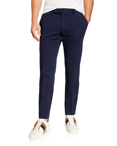 Men's Garment-Dyed Tab Twill Pants, Navy