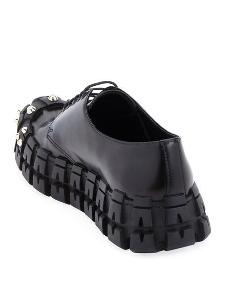 Men's The Wheel Tire Lug-Sole Derby Shoes