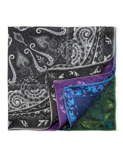 Reversible Silk Pocket Square