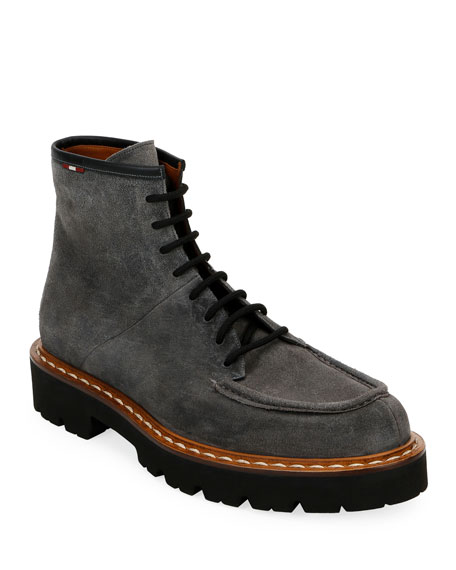 Men's Lybern Chunky Suede Lace-Up Boots