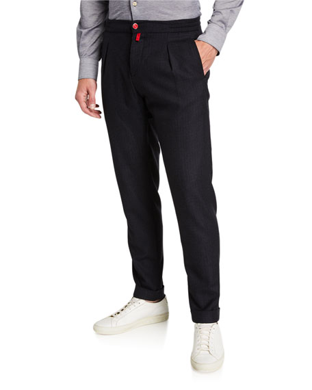 Men's Tonal Check Jogger Pants