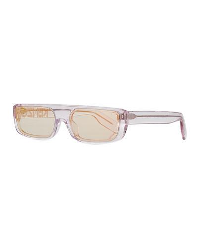 Men's Logo Acetate Sunglasses  Pink