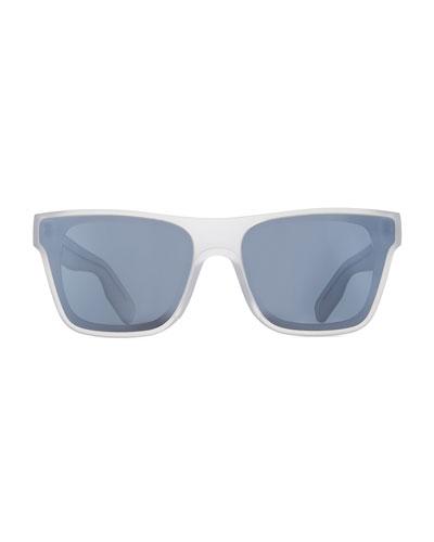 Men's Transparent Square Sunglasses