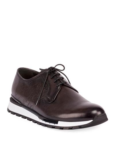 Men's Fast Track Torino Scritto Calf Leather Sneaker