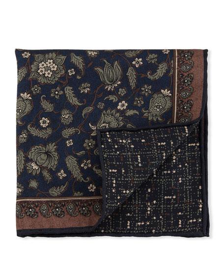 Floral Paisley Silk Pocket Square