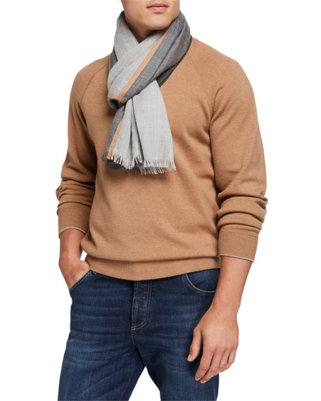 Image 1 of 1: Men's Cashmere/Silk Scarf