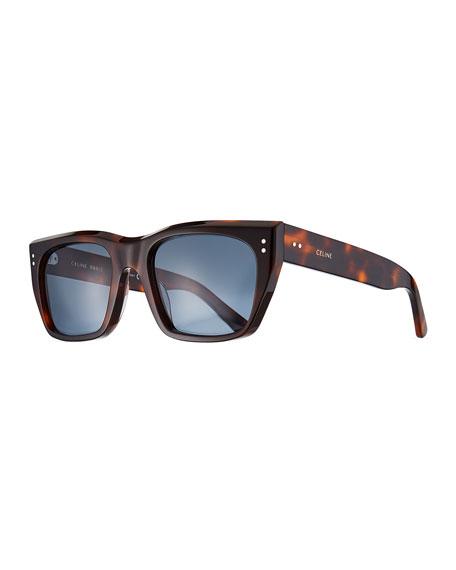 Men's Square Tortoiseshell Sunglasses