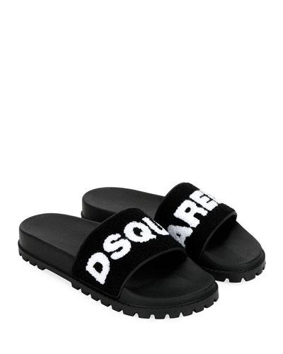 Men's Terry Logo Slide Sandals
