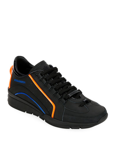Men's Tonal w/Neon Trainer Sneakers