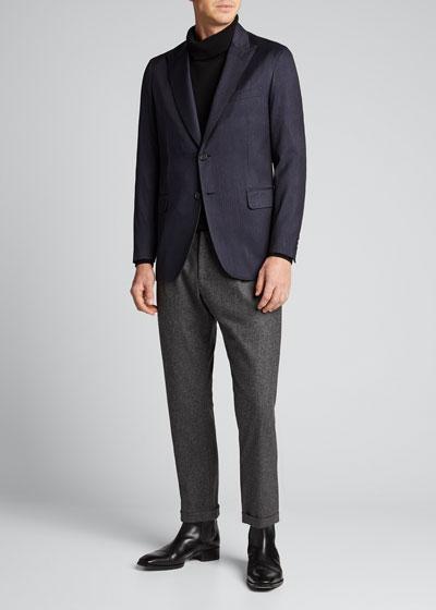 Men's Double-Face Blazer with Stripes