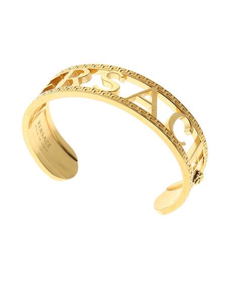 Men's Logo/Greek Key Cuff Bracelet