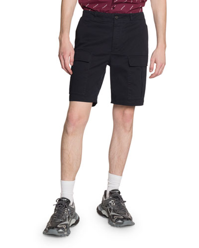 Men's Cotton-Twill Cargo Shorts