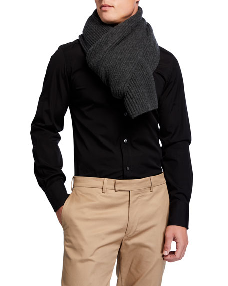 Image 1 of 1: Men's Alberto Cashmere Knit Scarf