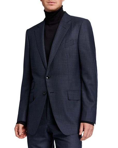 Men's Micro Tattersall Two-Piece Suit
