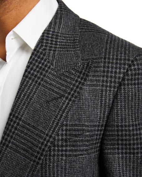 Men's Prince of Wales Plaid Shelton Peak Two-Button Jacket