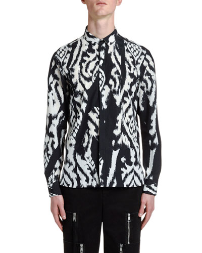 Men's Ikat-Pattern Sport Shirt
