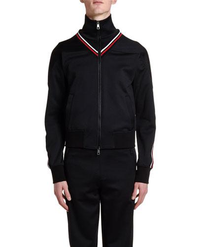 Men's Retro Zip-Front Track Jacket