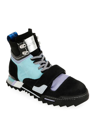 Off-White Men's Arrow Colorblock Hiking Sneaker Boots