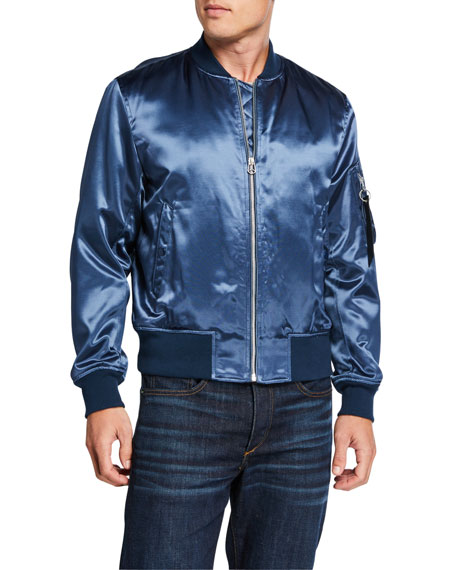 Men's Manston Satin Bomber Jacket