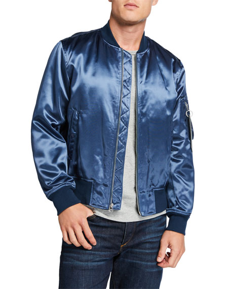 Image 1 of 1: Men's Manston Satin Bomber Jacket