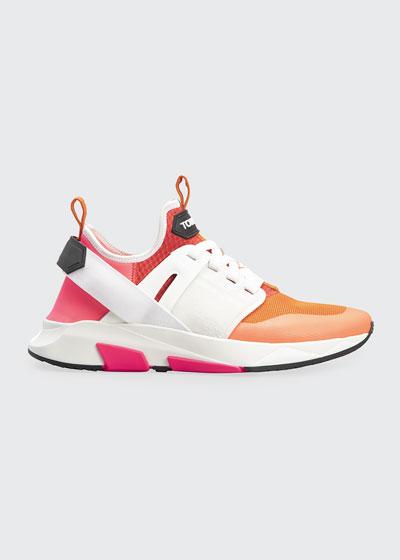 Men's Mesh & Leather Heel-Strap Trainer Sneakers