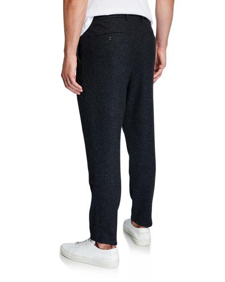 Men's Wool Carrot-Fit Trousers