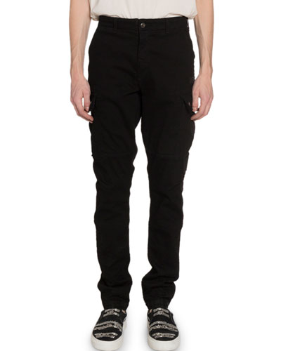 Men's Relaxed Stretch-Twill Cargo Pants