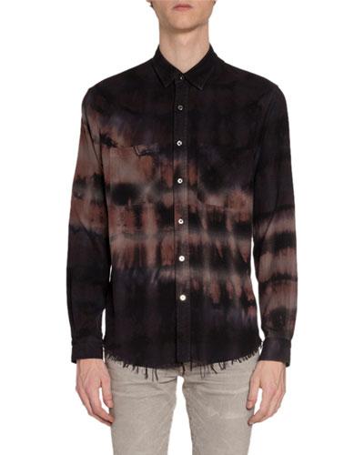 Men's Bleached Flannel Sport Shirt