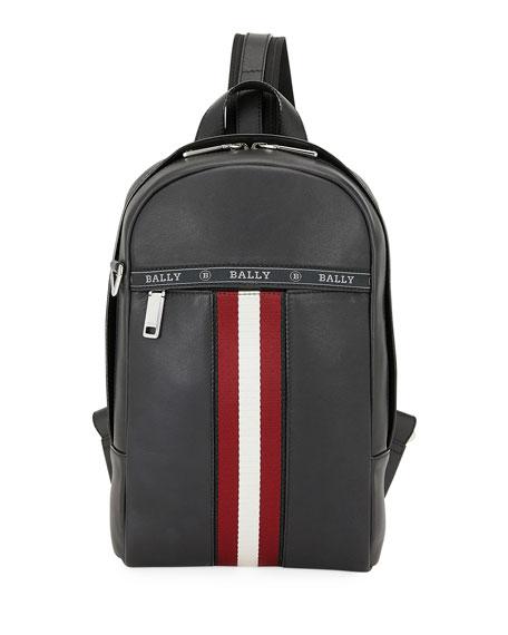 Men's Trainspotting Leather Crossbody Backpack