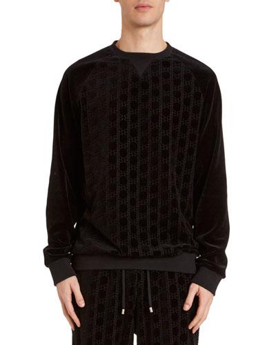 Men's Velvet Monogram Sweatshirt