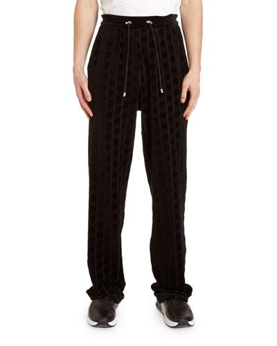 Men's Monogram Velvet Sweatpants